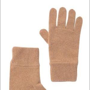 Theory Men's Camel Cashmere Knit Gloves